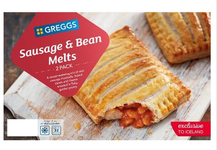 1/2 Price - Greggs 2 Sausage & Bean Melts 308g