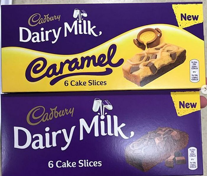 Cadbury Dairy Milk Chocolate Slice / Caramel Cake Slices 6 Pack