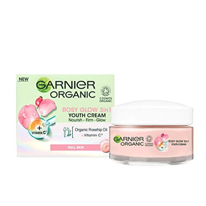 Garnier Organic Rosy Glow 3-in-1 Youth Cream 50 Ml