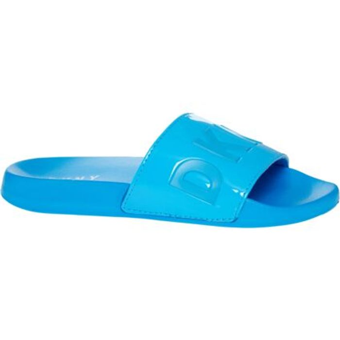 DKNY Blue Patent Slides