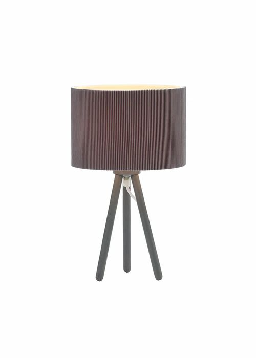 Tripod Table Lamp With Pleated Shade