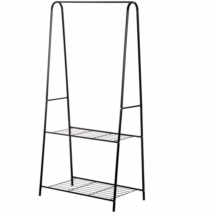 A Shaped Clothes Rack, 2-Tier