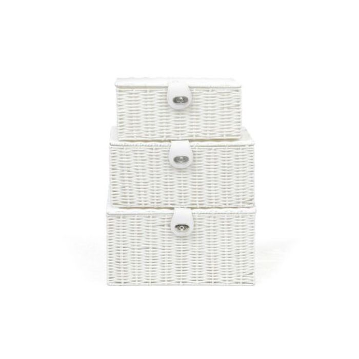 SET of 3 Storage Chest Basket Box & free delivery