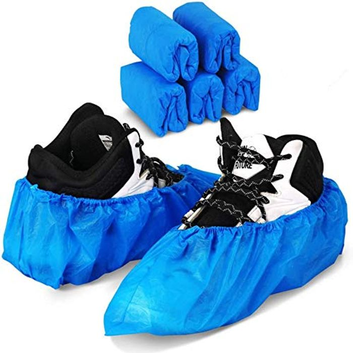 50 Pack (25 Pairs) Blue Disposable Shoes Covers