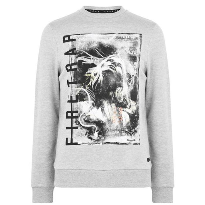 Firetrap Photo Crew Sweatshirt Men