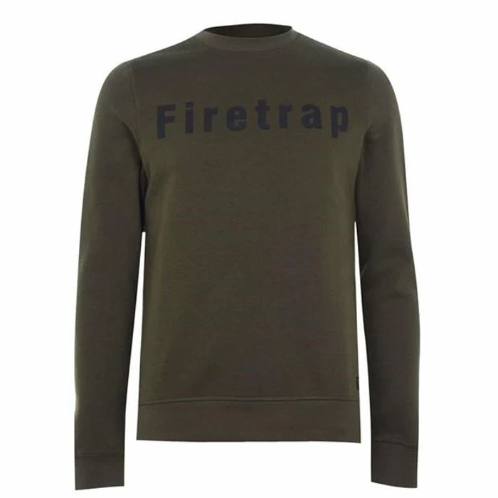 Firetrap Graphic Crew Neck Sweatshirt Men's