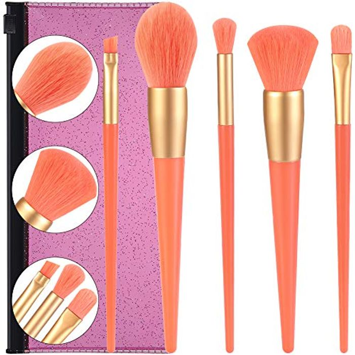 Prime Deal! Children Makeup Brushes Set 5pcs