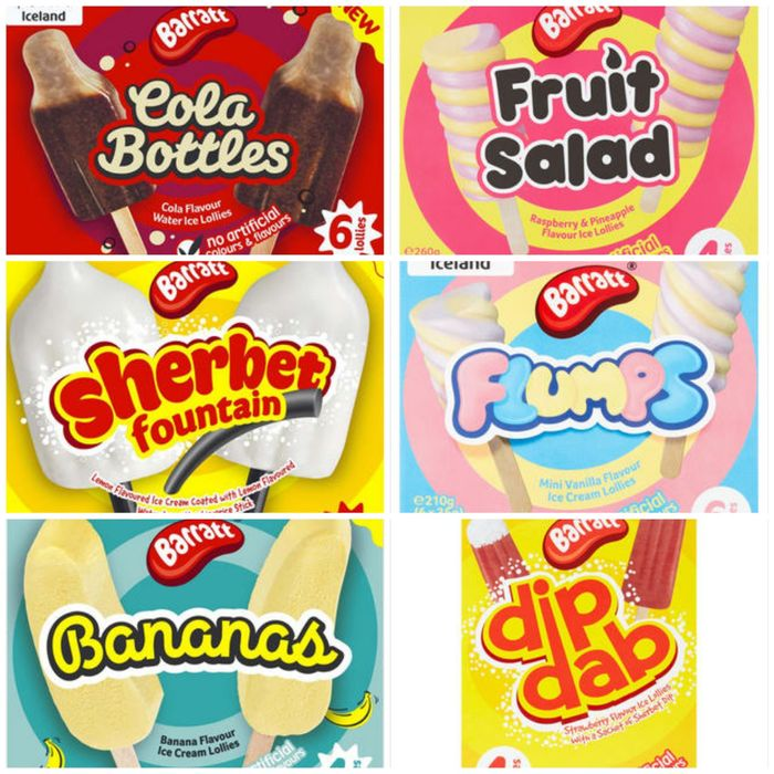 Iceland Bank Holiday Deal Barrett Sweet Flavoured Ice Lollies & Ice Creams £1.50