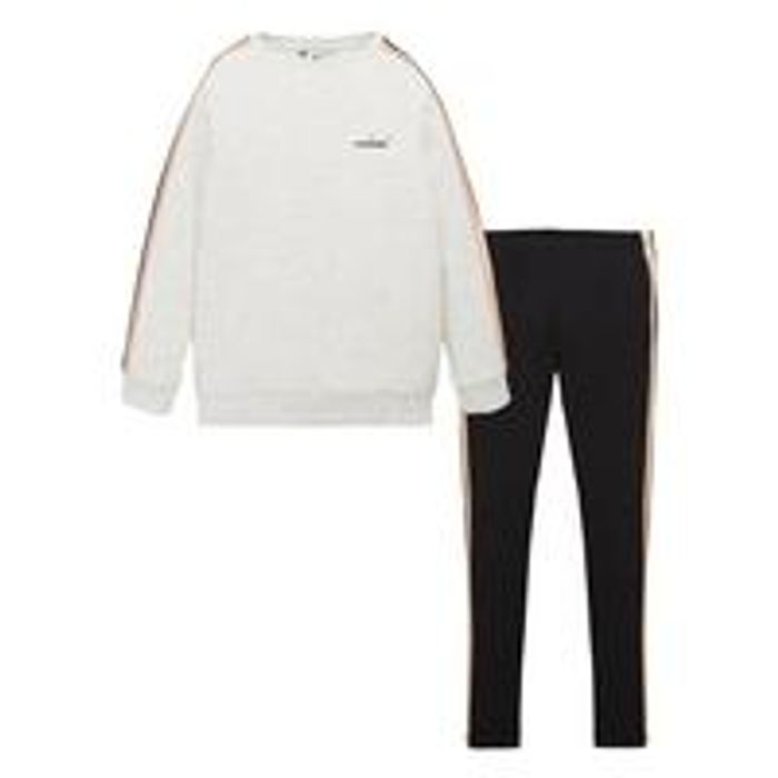 V by Very Girls Longline Side Stripe Sweat and Legging Set - Multi