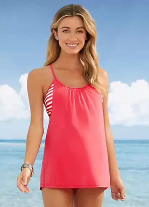 Pink Racer Back Tankini Set by RAINBOW (Size 16)