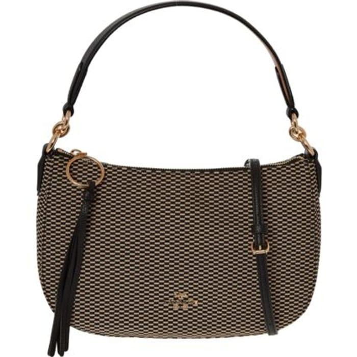COACH- Brown & Black Knit Logo Cross Body Bag £79.99