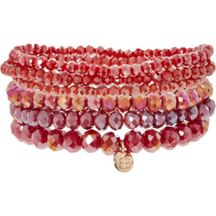 BOHOBETTY Six Piece Red Bracelet Set