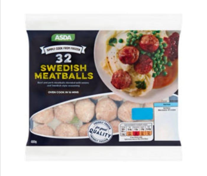 Asda Swedish Meatballs 480g