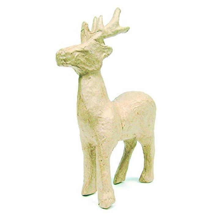 Dcopatch Small Standing Reindeer Mache