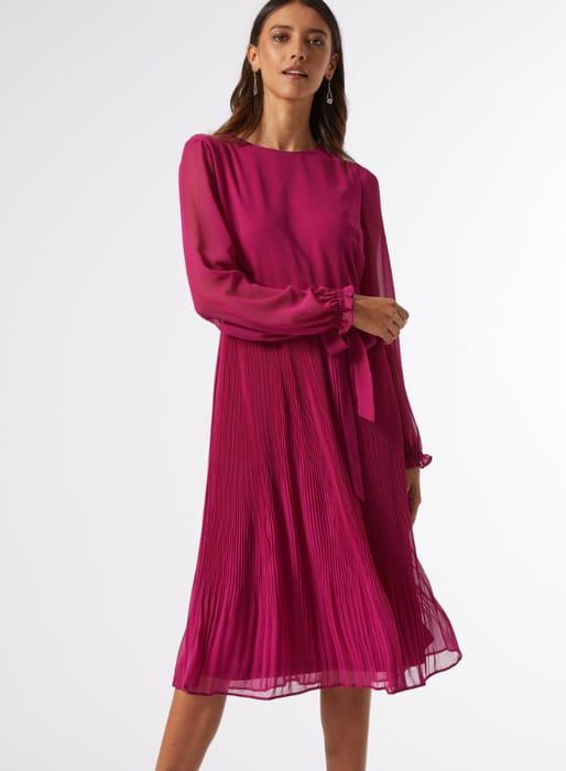 Billie Pink Midi Dress at Dorothy Perkins