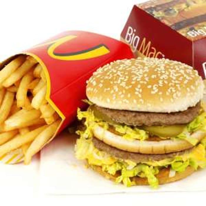 McDonalds Big Mac, Chicken Sandwich, Fillet O Fish, 1/4lb Cheese & Fries - £1.99