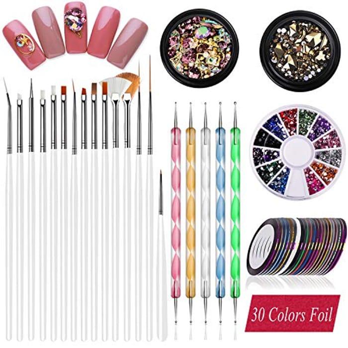 JOYJULY Nail Pen Designer Nail Art Tools Kit - Only £3.47!