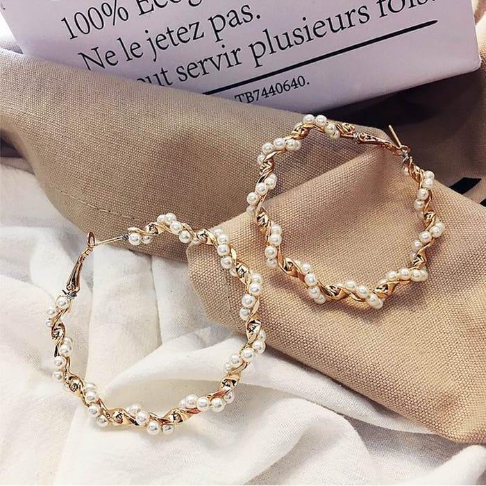Big Circle Earrings (Gold)