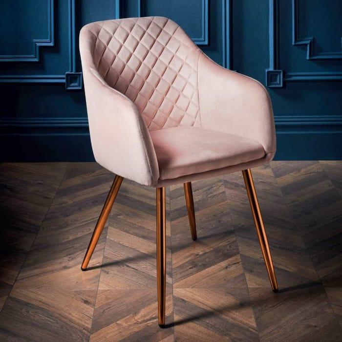 Loft Studio Velvet Dining Chair - Blush