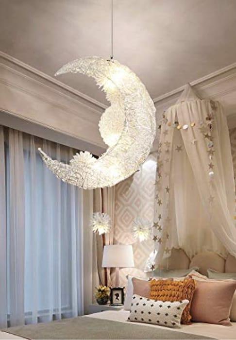 Fairytale Magic Stunning Moon and Stars Led Pendant Light