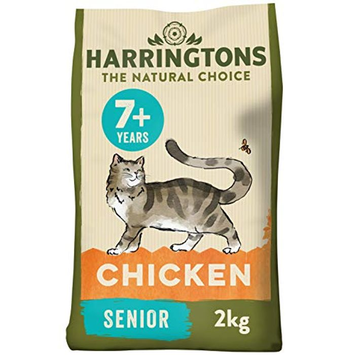 Harringtons Complete Senior Chicken Dry Cat Food 2kg, Pack of 4