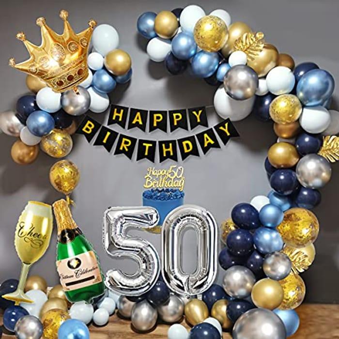 Lightning Deal 50th Birthday Balloon Bundle