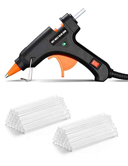 DEAL STACK - TOPELEK 20W Mini Hot Glue Gun with Sticks, 50pcs 100mm + 40% Coupon