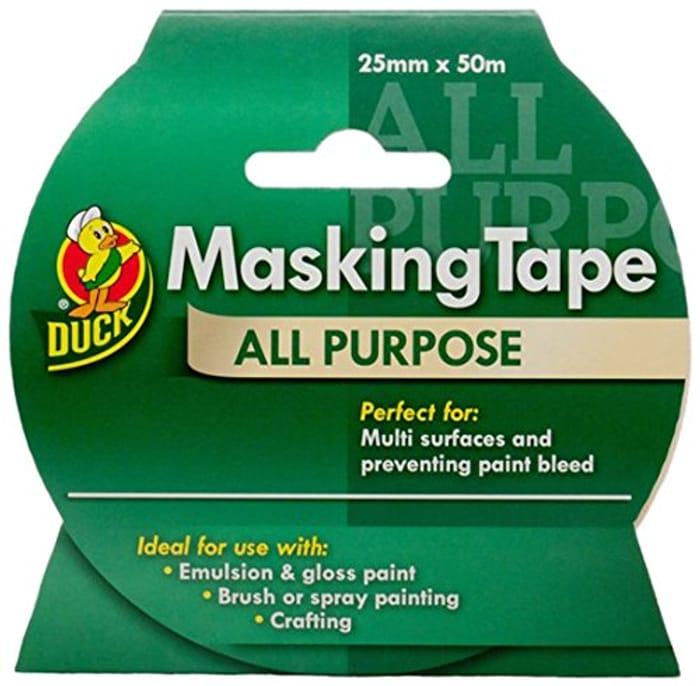 Duck Masking Tape 50m Roll - £3.24 Prime