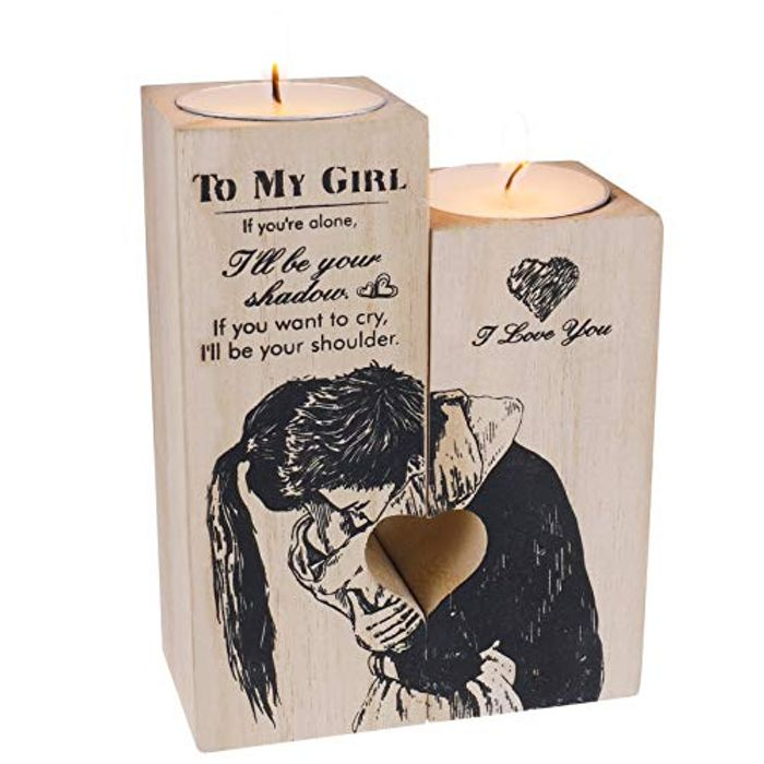 Be My Girl Wooden Candle Set