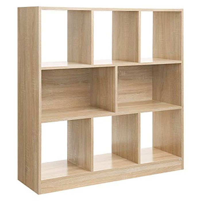 VASAGLE Wooden Bookcase with Open Cubes and Shelves,