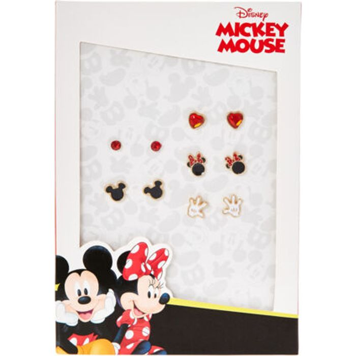 Best Price! DISNEY Five Piece Multicoloured Heart & Mouse Earring Pairs