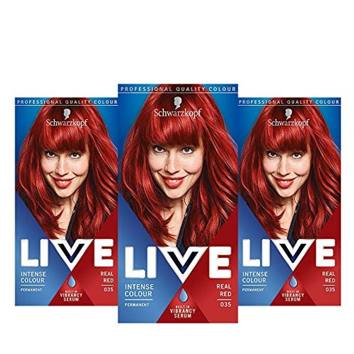 Live 3 Pack of Red Hair Colour
