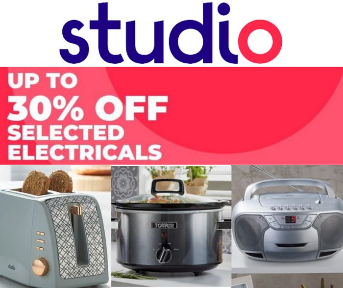 Studio Up to 30% off Selected Electricals Inc. Toasters, Sewing Machines & More