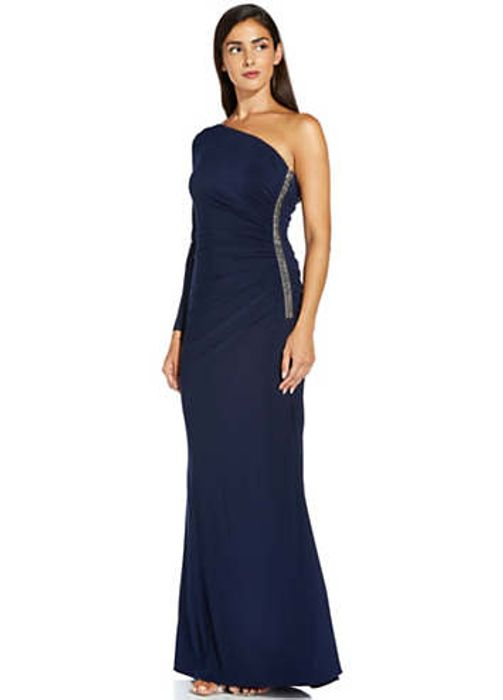 Adrianna Papell One Shoulder Dress (Size 8, 12 & 14)
