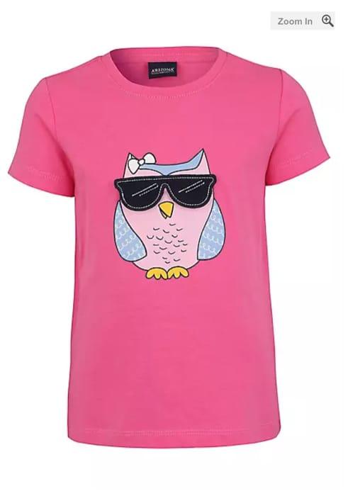 Pink Kids Owl Print T-Shirt by Arizona