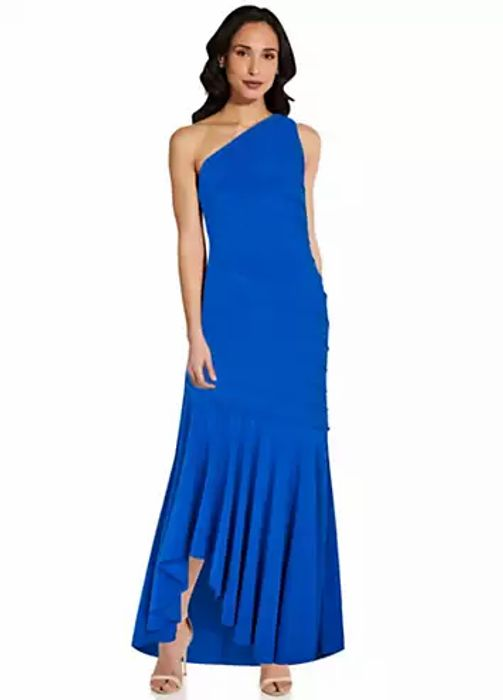 Adrianna Papell Jersey Pintuck Gown