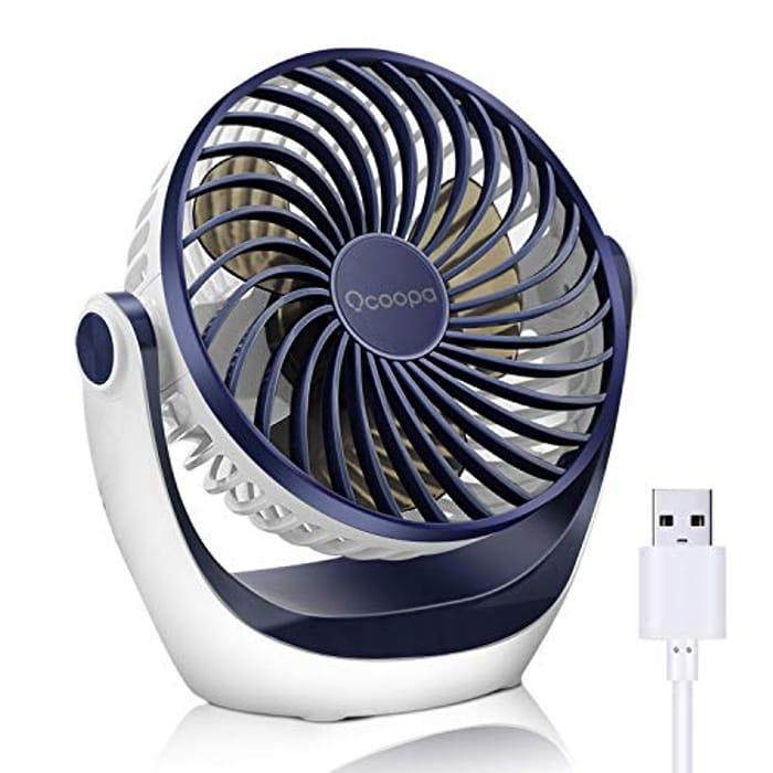 USB Desk Table Fan - Only £5.19!