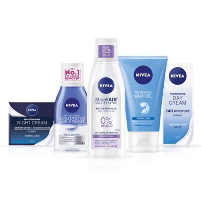 NIVEA Essentials Face Moisturisers & Cleansers Bundle