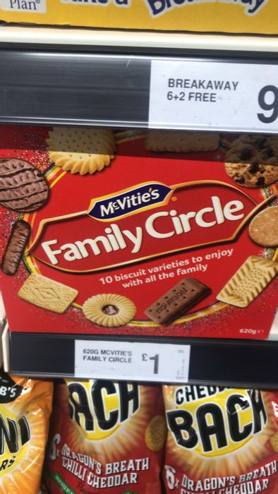 Mc Vities Family Circle Biscuits - 620g