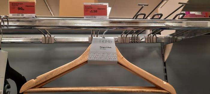 Sainsbury's Home Wooden Hangers 5pk