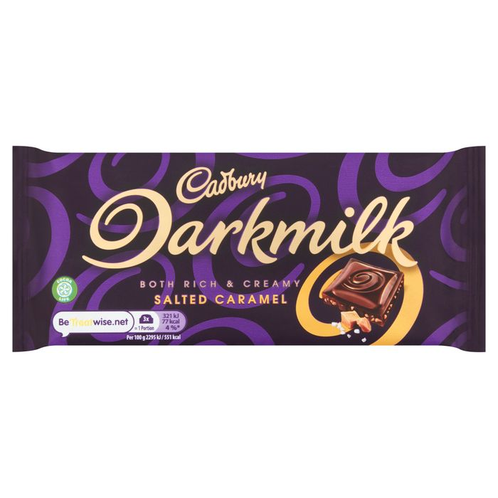 Cadbury Dark Milk Salted Caramel 85G - Clubcard Price - Only £1!