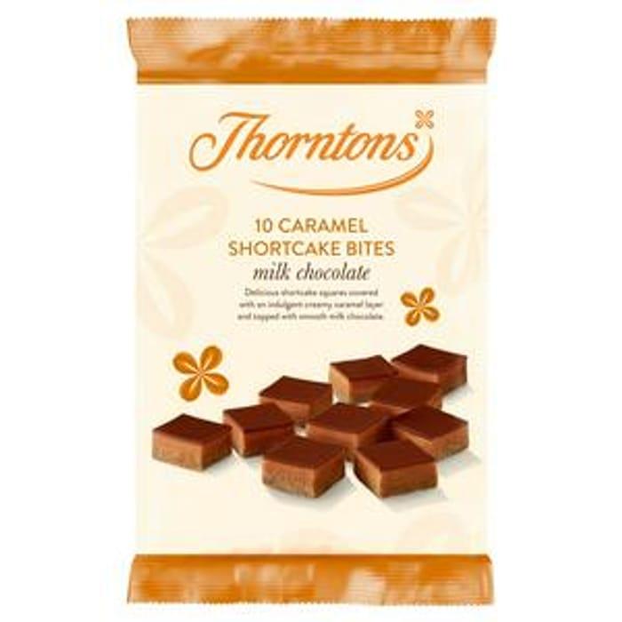 Thorntons Caramel Shortcake Bites Milk Chocolate X10