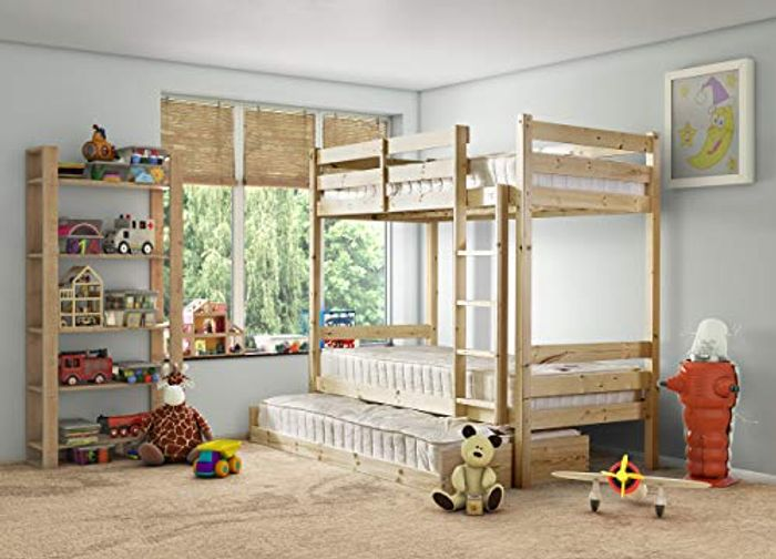 Best Price! Everest Classic Bunk Bed with Trundle Pull-out Guest Bed