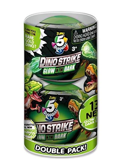 53% Off - 2 X Zuru 5 Surprise Dino Strike Glow In The Dark - £5.63