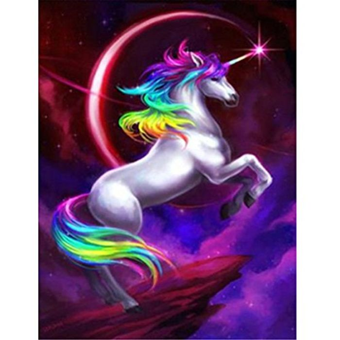 5D Unicorn Diamond Painting Kit