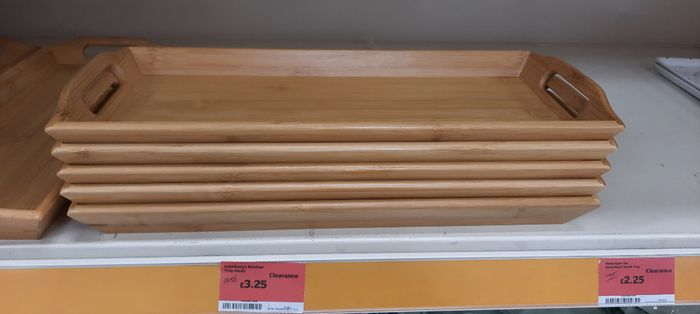 Sainsbury's Bamboo Tray Small