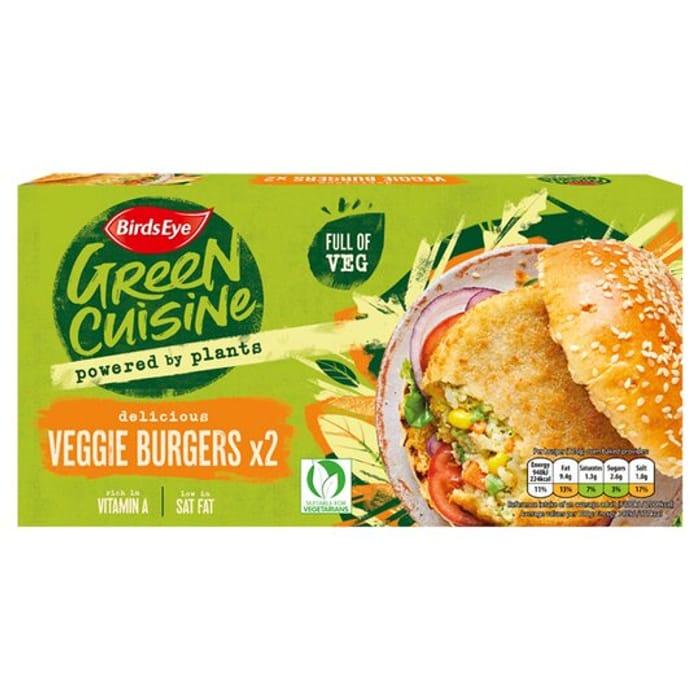 Birds Eye Green Cuisine 2 Veggie Burgers 250g