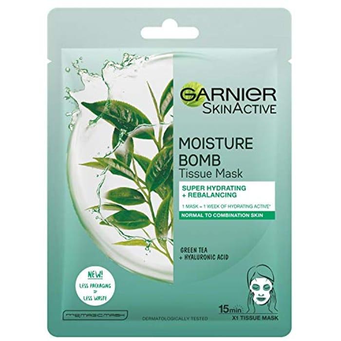 Garnier Moisture Bomb Tissue Mask, Green Tea - Combination Skin
