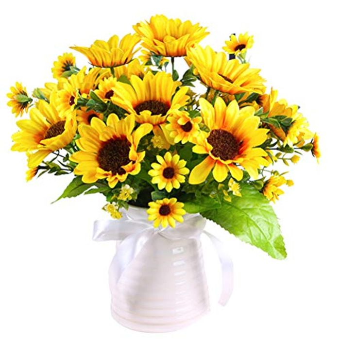 2 Packs Sunflower Artificial Flowers with £5 off Coupon