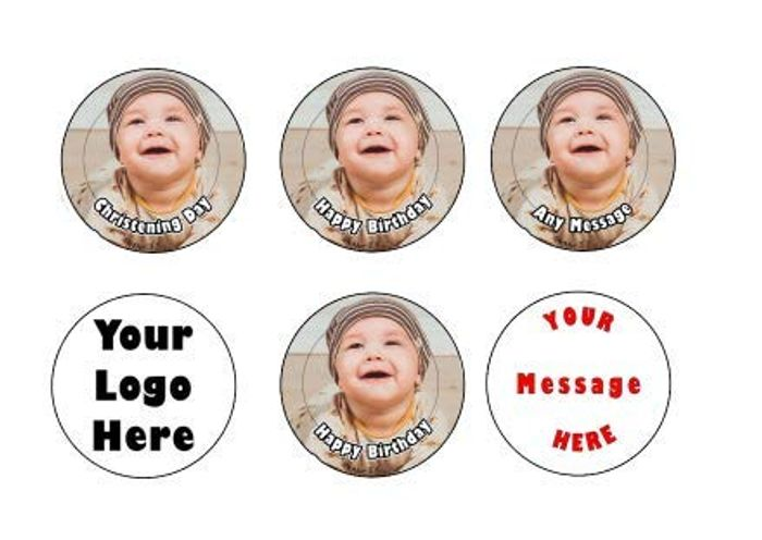 35 Pre Cut Customisable Cupcake Toppers Perfect for Special Occasions
